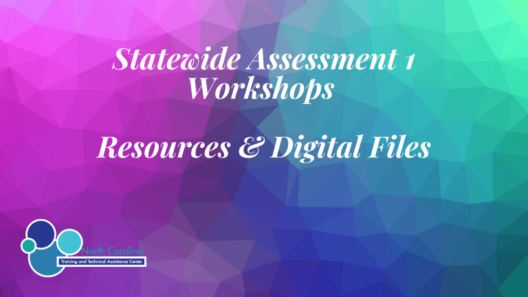Statewide Assessment Workshop #1 – Resources